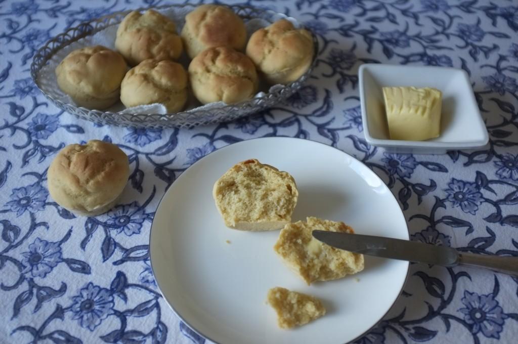 Les petits pains de table sans gluten permette à chacun son petit pain individuel