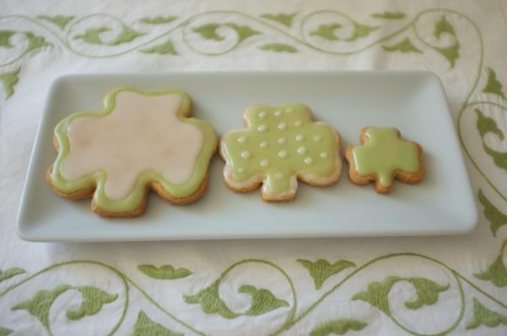 recette sans gluten de cookie Saint Patrick 2015