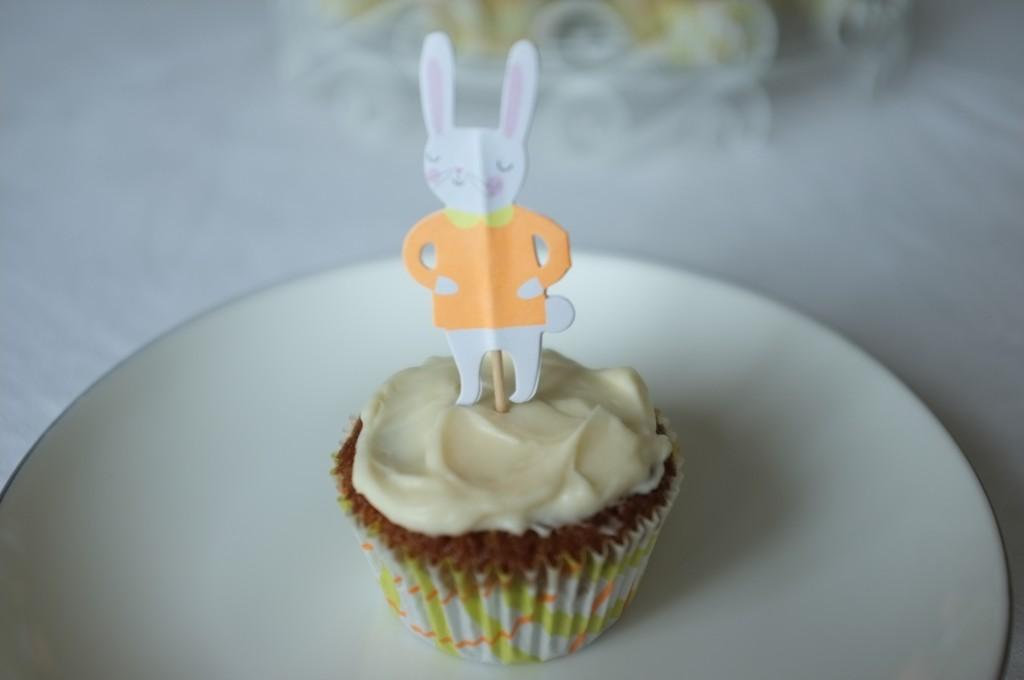 le cupcake sans gluten à la carotte pour célébrer Pâques 2015