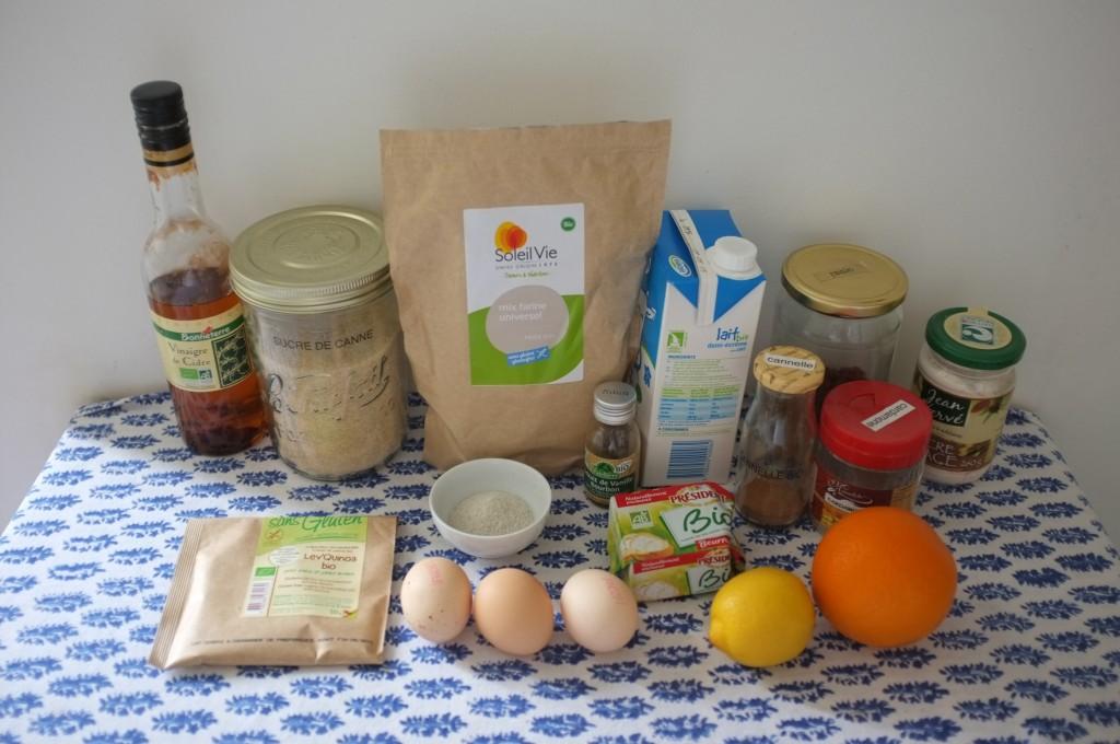 Les ingrédients sans gluten pour les petits pains de Pâques