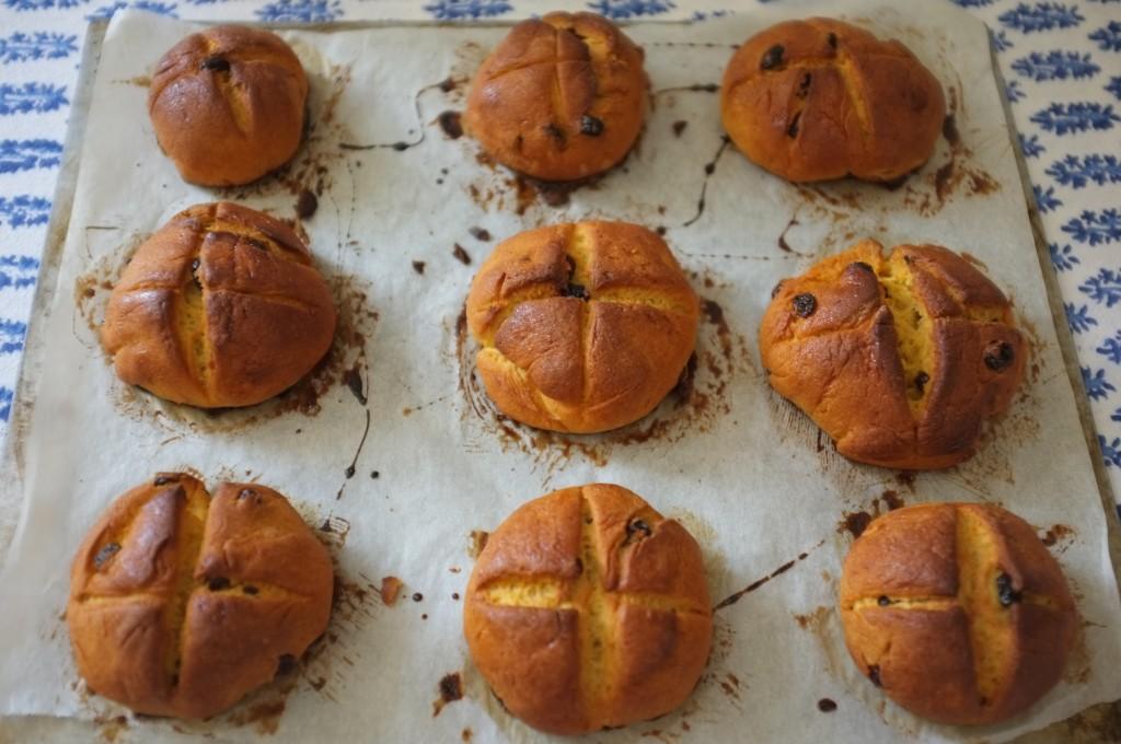 Les petits Pâques sans gluten  à la sortie du four