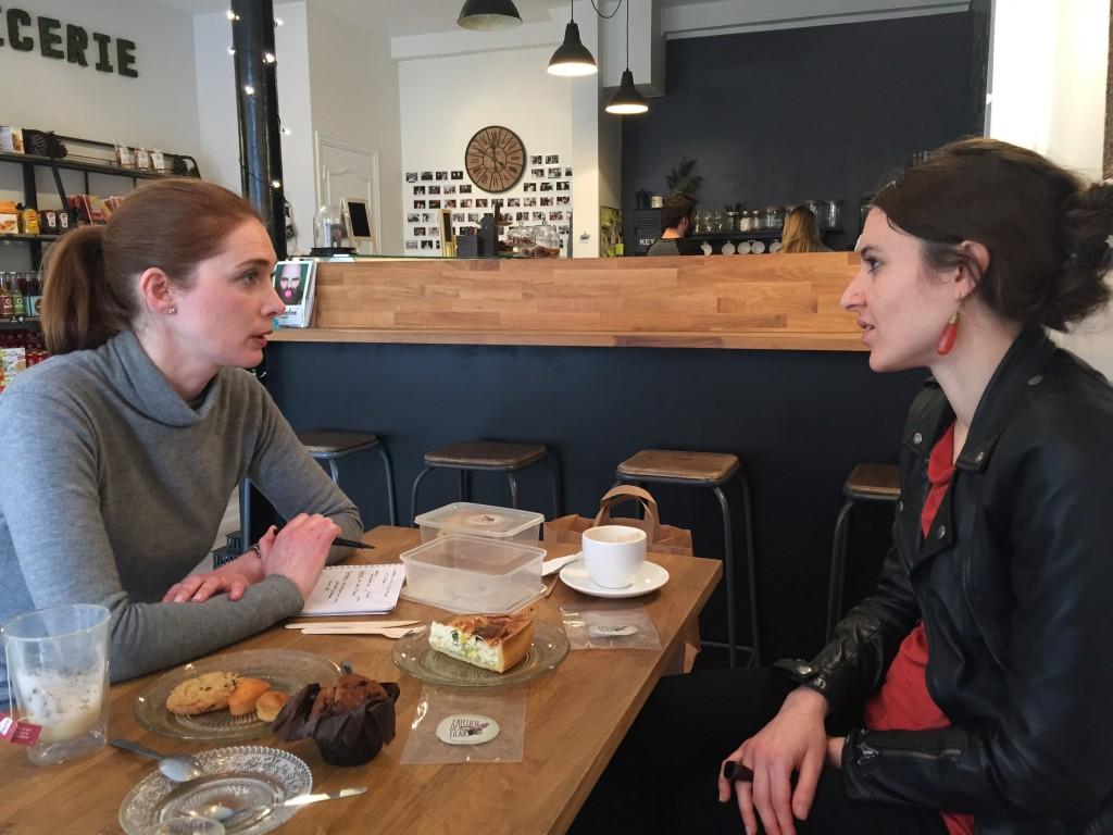 Discussion avec Sarah des l'Atelier des Lilas sur leur ingrédients et choix de recettes