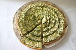 recette sans gluten de tarte courgette et chèvre frais
