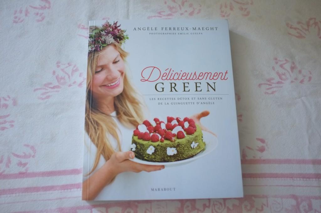 Le livre sans gluten «Délicieusement Green» d'Angèle Ferreux-Maeght