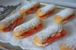 Recette sans gluten de mini éclairs à la fraise