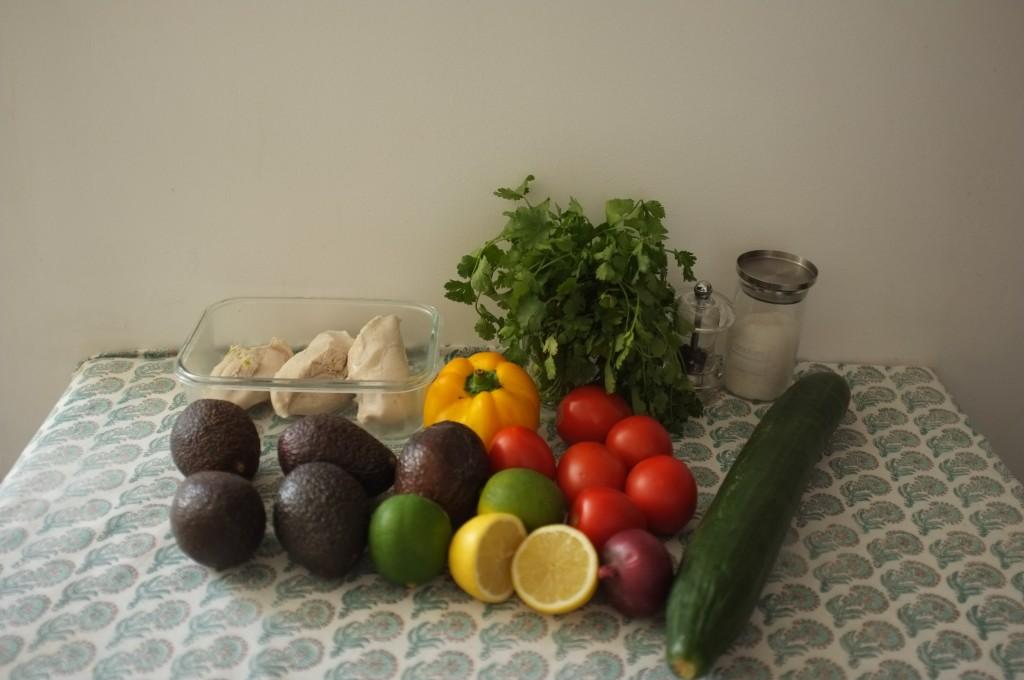 Les ingrédients pour garnir nos tacos