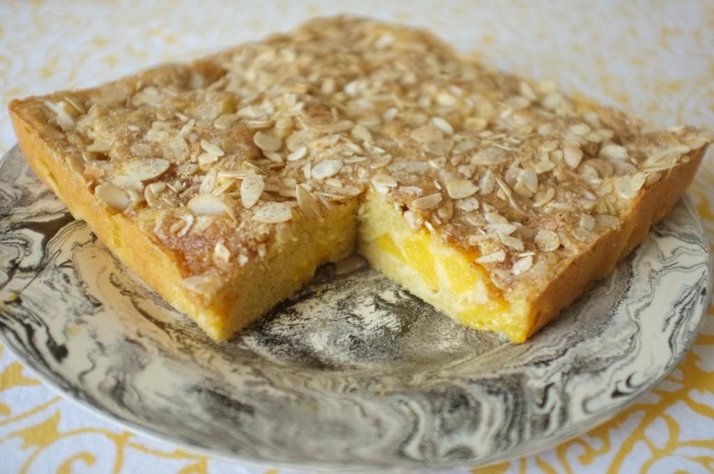 le gâteau sans gluten pêche et amande