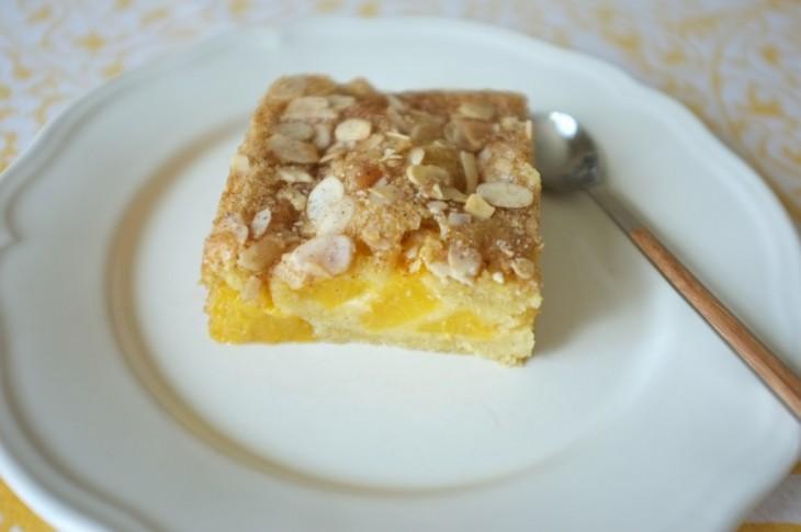 Recette sans gluten de gâteau pêches et amandes