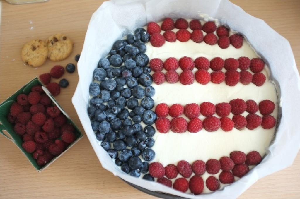 IL n'y a plus qu'à décorer en bleu blanc et rouge, ici le drapeau des Etats-Unis d'Amérique.