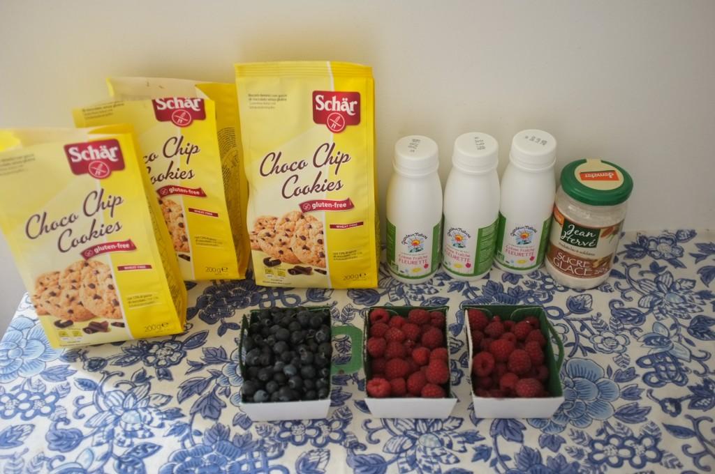 Les ingrédients sans gluten pour mon gâteau patriotique 2015