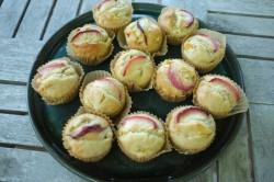 recette sans gluten de muffins à la pèche