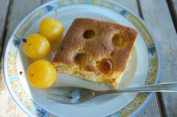 recette sans gluten de gâteau aux prunes jaunes