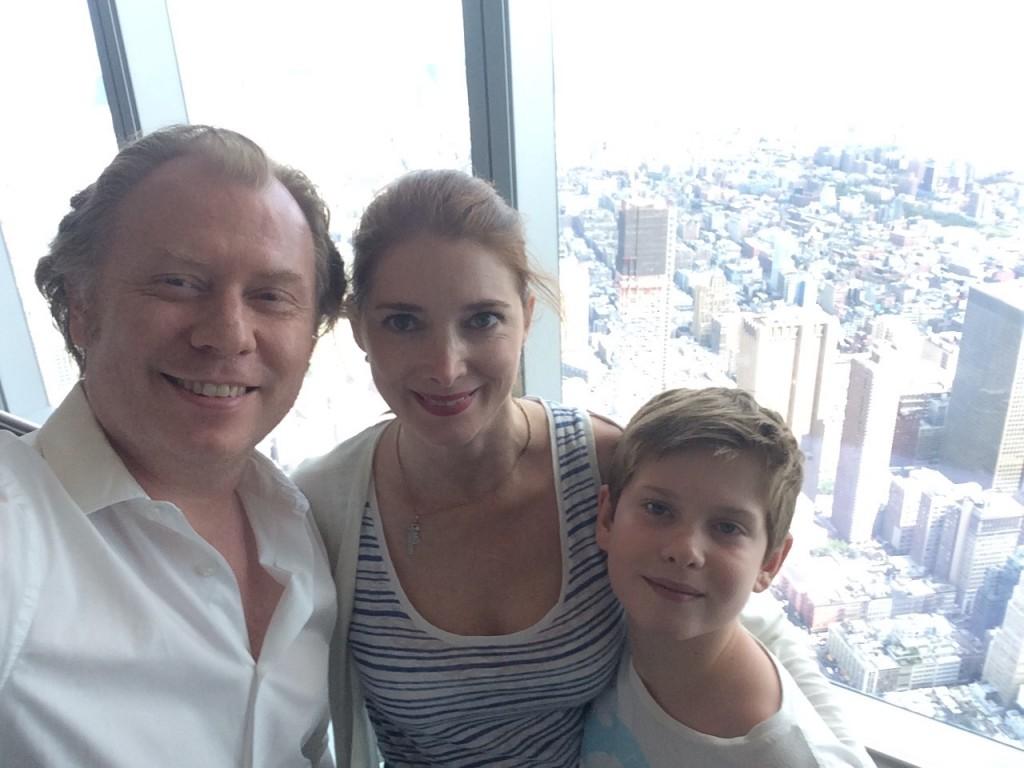 Notre petite famille, selfie depuis la tour One.
