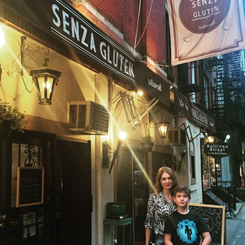 Au restaurant Senza gluten,  100% sans gluten, par une belle soirée d'été...