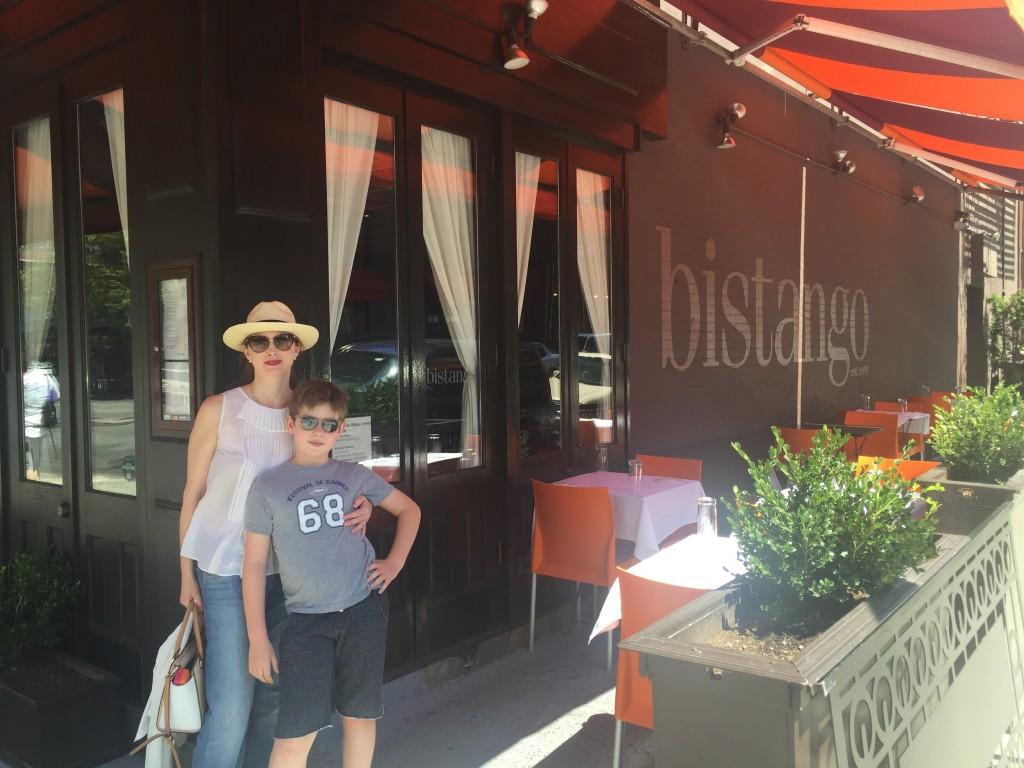Devant le restaurant Bistango de la 29th Street.