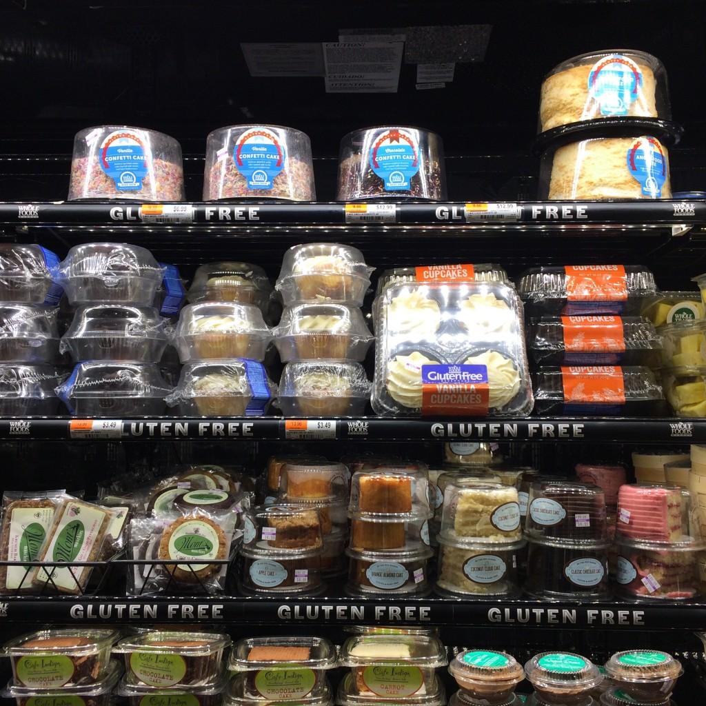 Les gâteaux sans gluten ni lactose du magasin Whole Food...pas très bio, mais si bons