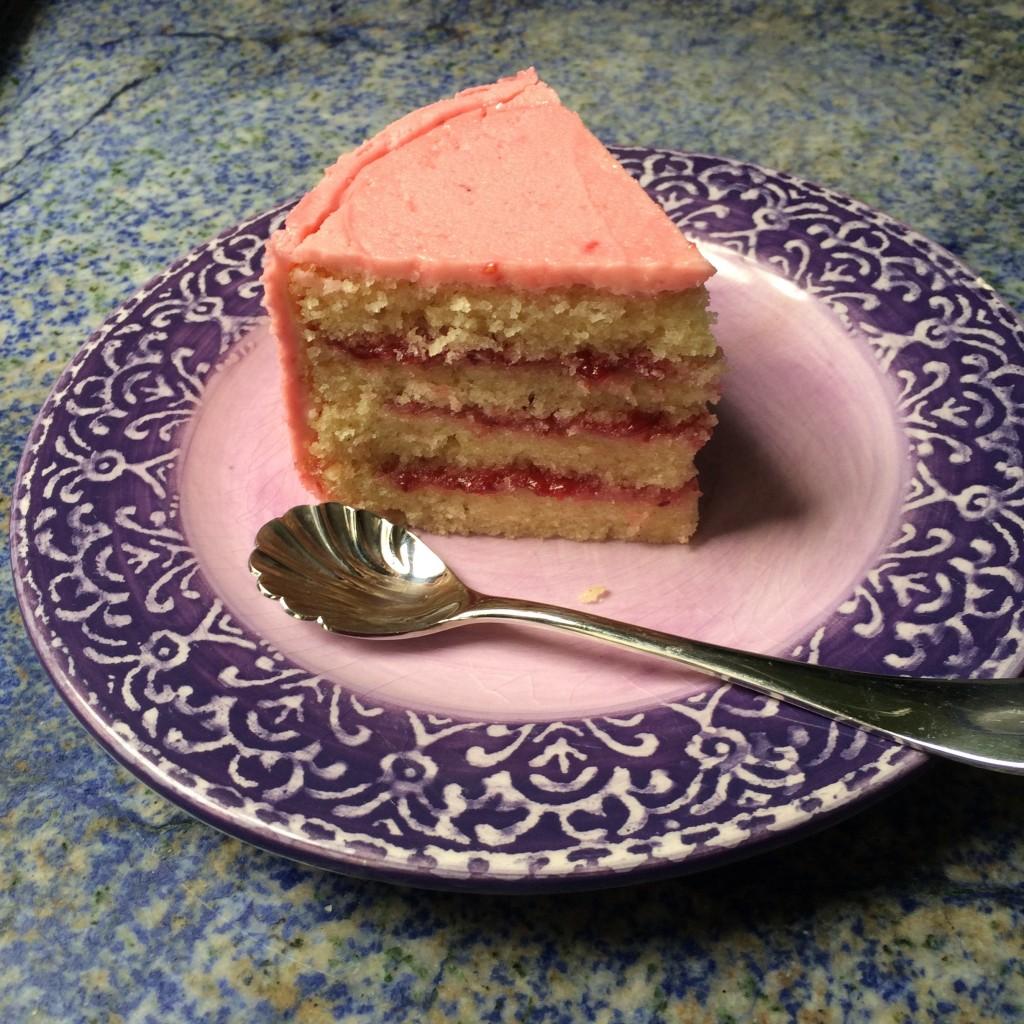 Le gâteau à la fraise sans gluten ni lactose de whole Food