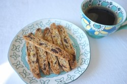 recette sans gluten de biscotti orange confite et chocolat noir