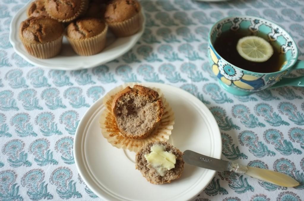 Le muffins sans gluten au sarrasin, si le dessus est croustillant, l'intérieur de la mie est très tendre...