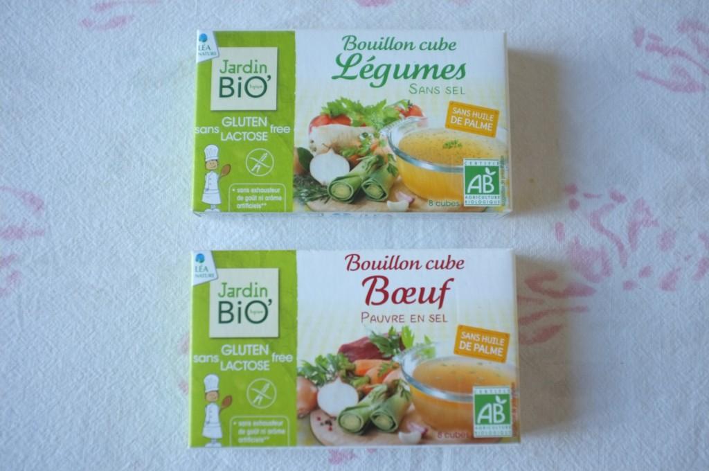 Les petits cubes de bouillon Légumes et Boeuf de Jardin Bio, certifié par l'Afdiag.
