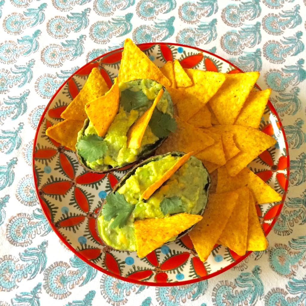 Les tortillas Chili de Jardin Bio pour accompagner notre guacamole...autant être honnête, entre William et moi, le paquet entier y passe...