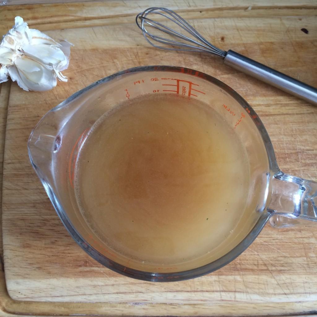 Le bouillon sans gluten au boeuf de Jardin Bio pour mon risotto du soir...