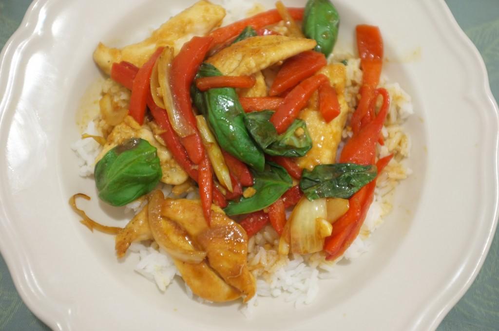 Ma recette de poulet sauté au basilic, glaçé au Strong Tamari