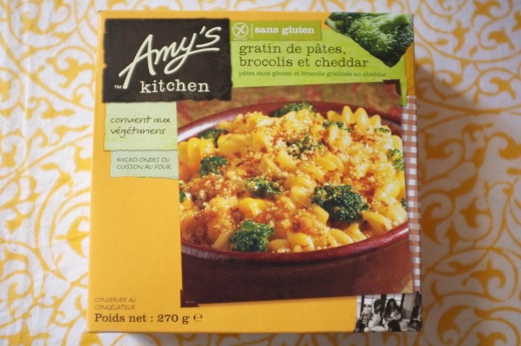 Le gratin de pâte brocoli et cheddar sans gluten de Amy's Kitchen