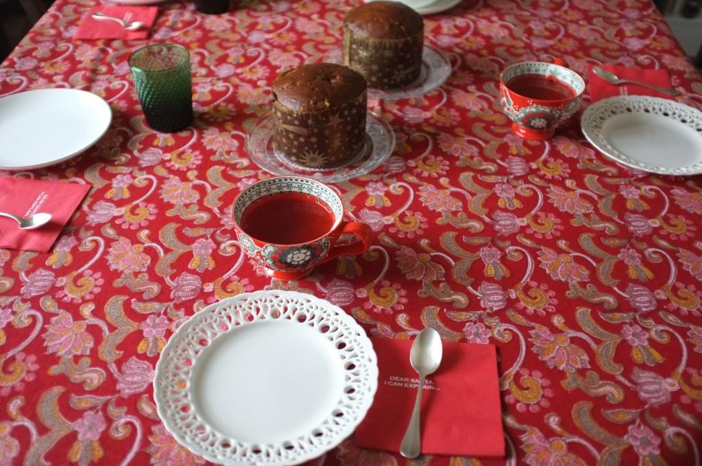Ma table du goûter de dimanche, l'esprit de Noël est là!