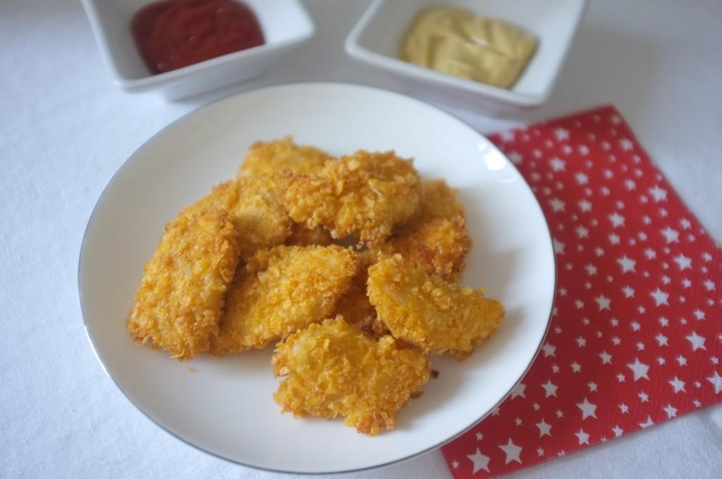 Mes nuggets de poulet avec les cornflakes non sucré  et certifiés sans gluten de Lima