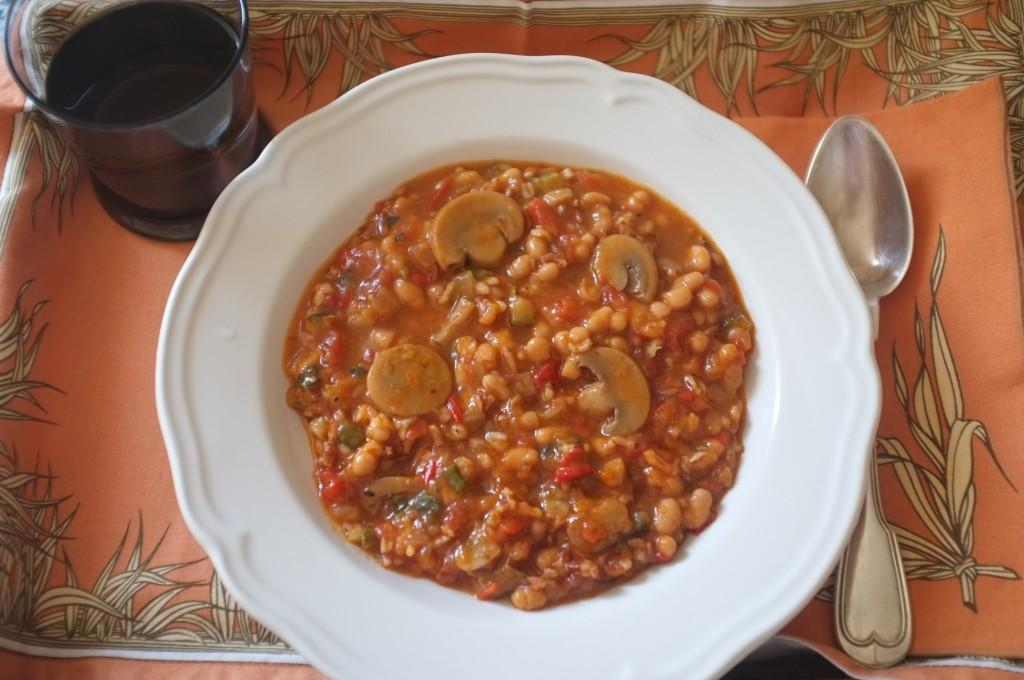 La soupe ...... d'Amys' Kitchen, pour mon plateau repas.