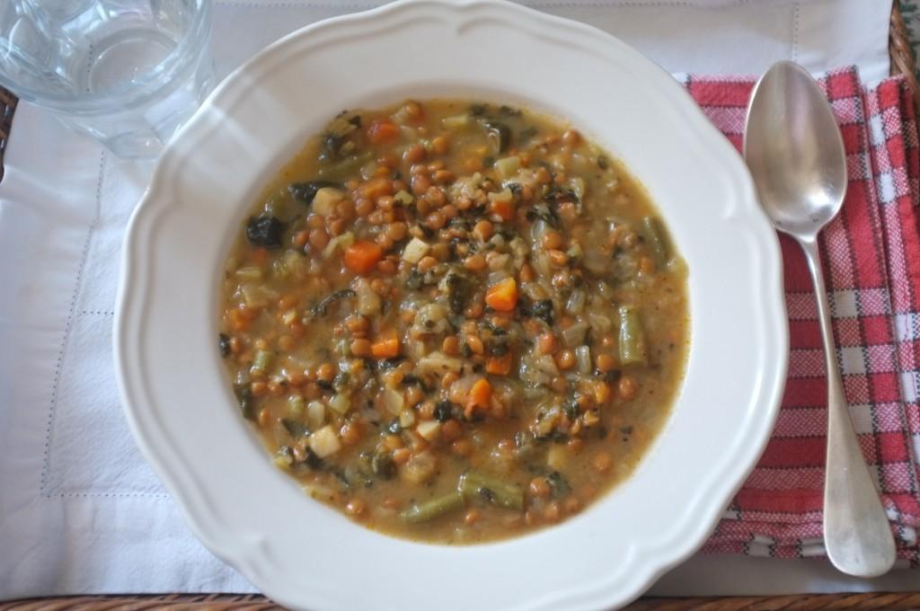 La soupe Amy's kitchen ..... c'est la préféré de mon mari qu'il accompagne souvent de soucisse de frankefort. Quel gourmand!