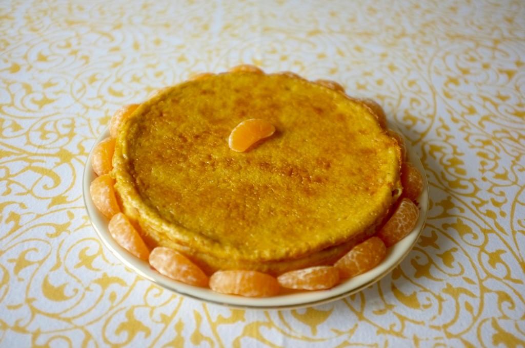 La mélassinne sans gluten aux zestes de clémentines pour le dessert.