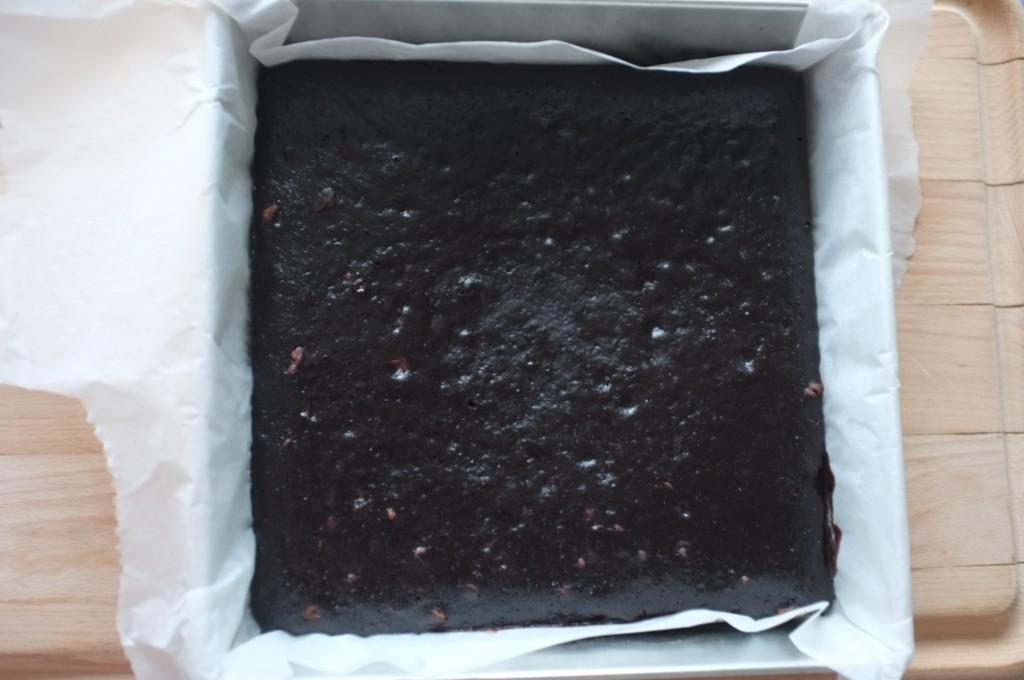 Le brownie des copines sans gluten à la sortie du four.