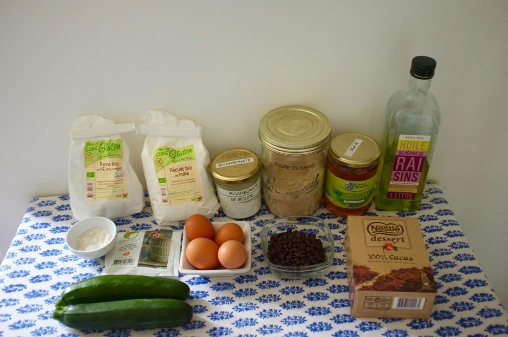 Les ingrédients sans gluten pour le bronwie des copines.