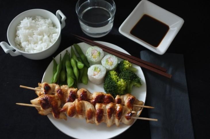 Recette sans gluten de poulet Yakitori