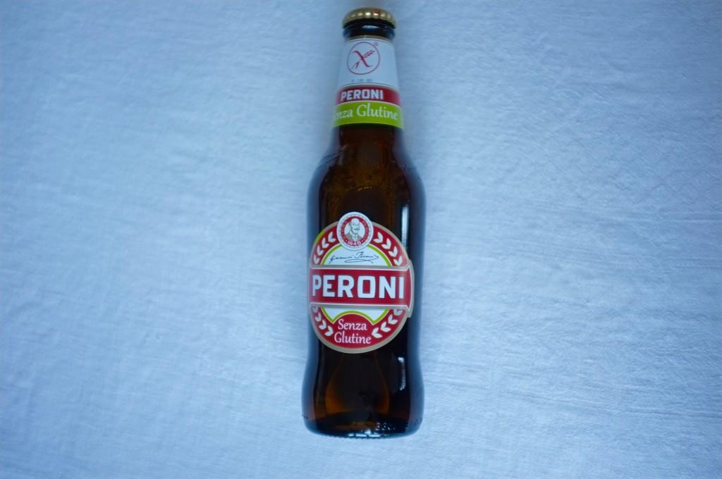 Une bière Peroni sans gluten bien fraiche...