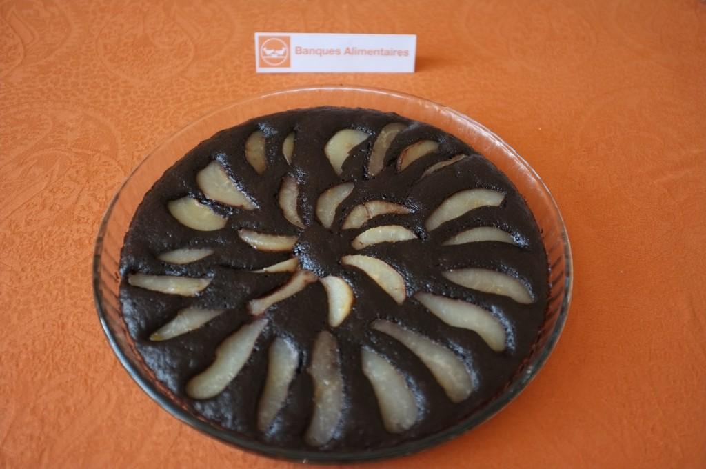 Le gâteau sans gluten pire chocolat pour la Banque Alimentaire.
