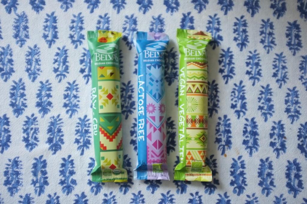 Les barres chocolatés Belvas sont Bio et certifiées sans gluten.