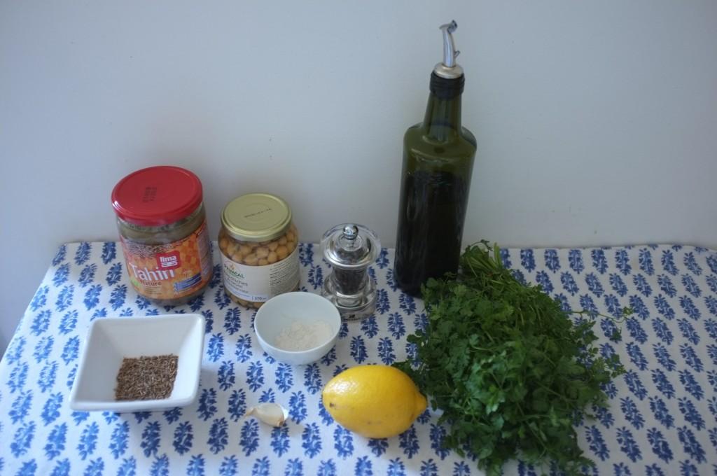 Les ingrédients sans gluten pour mon humous, recette que je tiens de ma grand-mère grecque !