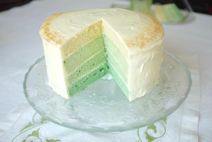 Recette sans gluten de gâteau ombré pour la St Patrick