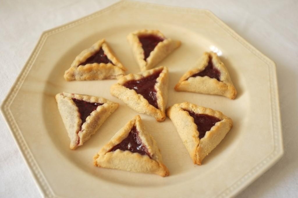 Les biscuits sans gluten Hamantaschen