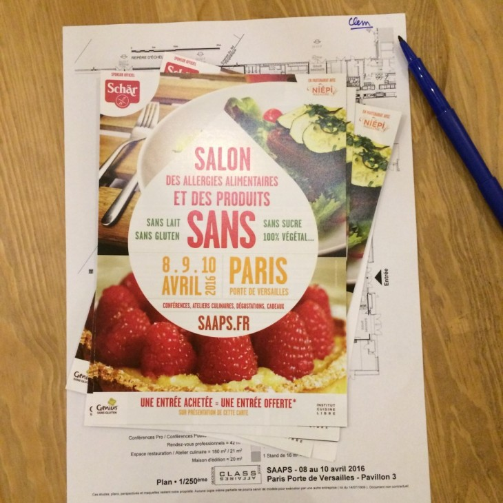 Ma participation au «Salon des Allergies Alimentaires et des Produits Sans» 2016