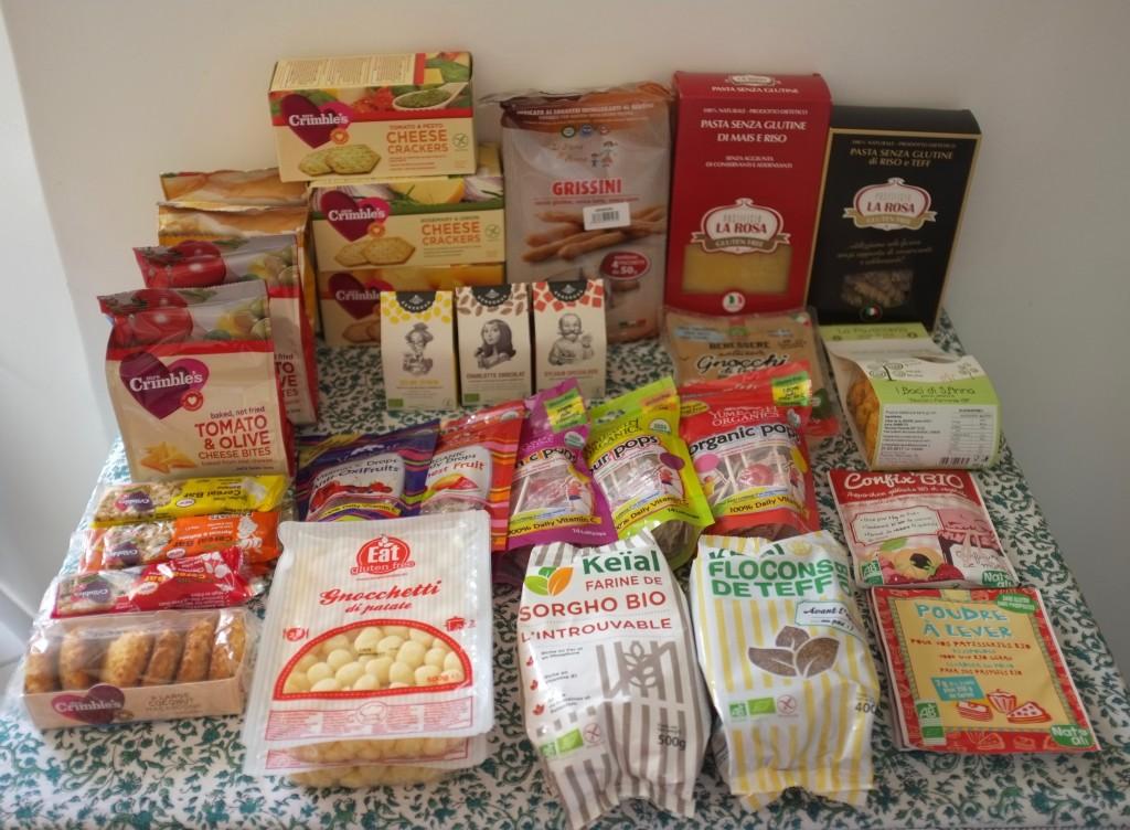 Toutes les trouvailles sans gluten rapportées du SAAPS