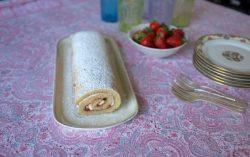 Recette sans gluten de roulé à la fraise