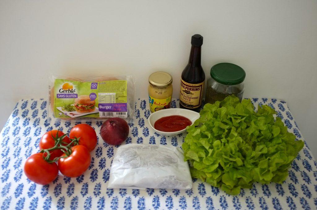 Les ingrédients sans gluten pour nos hamburgers