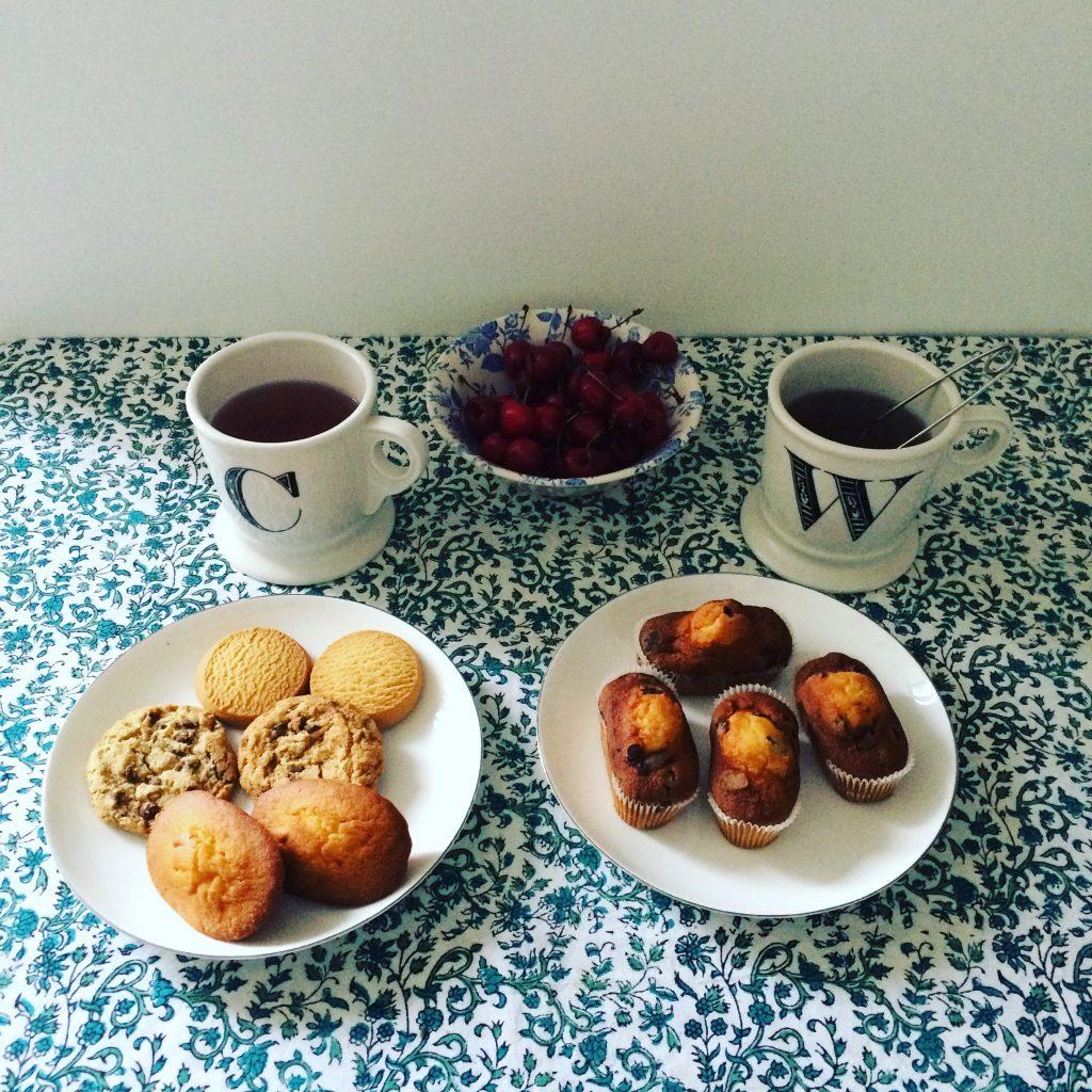 Une photo de mon compte instagram sur notre goûter avec les cookies et autres douceurs sans gluten.