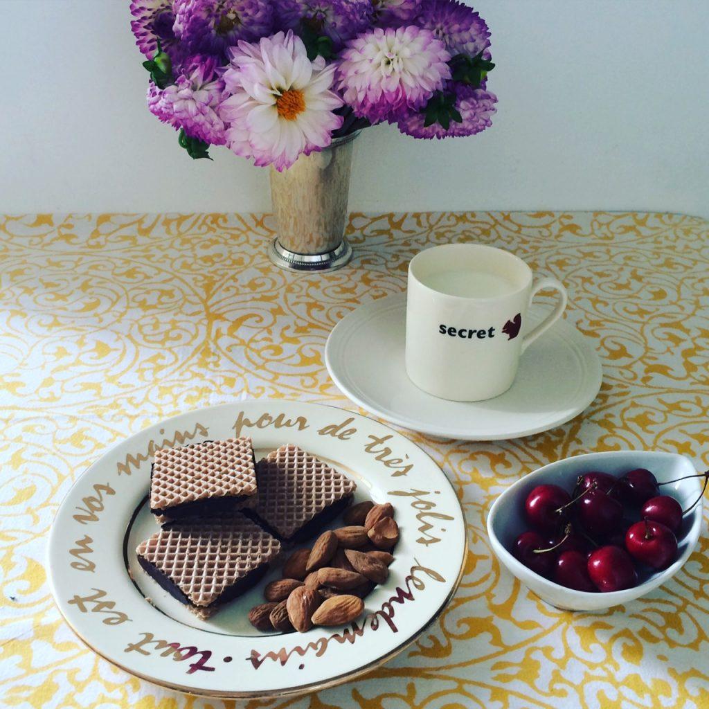 Les gaufrettes chocolat amande sans gluten ni lactose de Allergo.