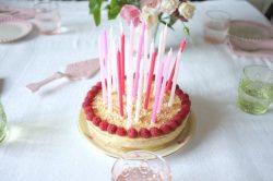 recette sans gluten de gâteau deux étages vanille et framboises fraiches