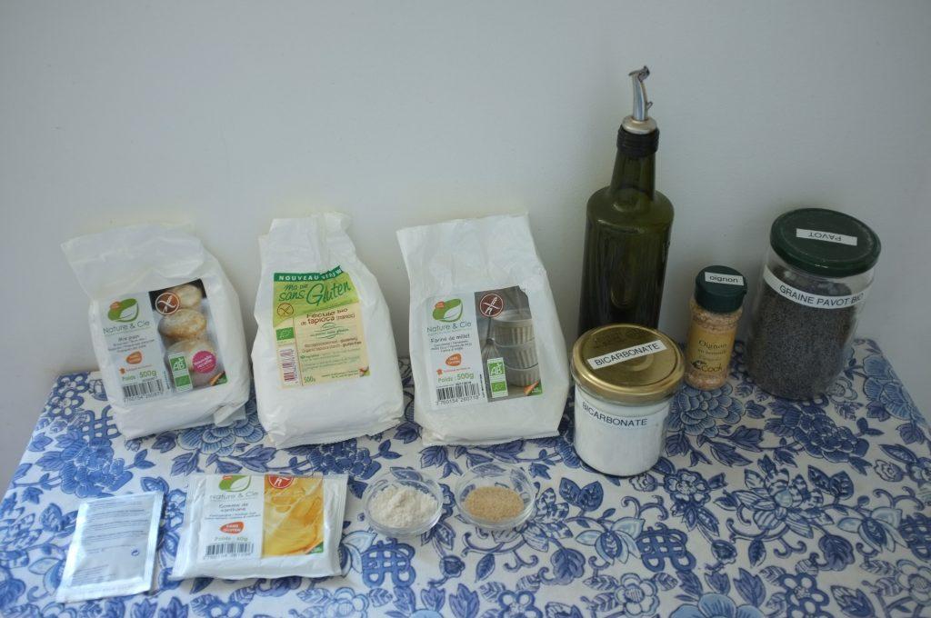 les ingrédients sans gluten pour mes bagels sans gluten